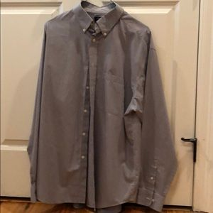 Blue and white pinstripe dress shirt